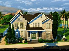 Perfectly elegant house for your sims featuring three bedrooms, four bathrooms, a big swimming pool, and many interesting things. It was built in Oasis Springs at a 40x30 lot. Found in TSR...
