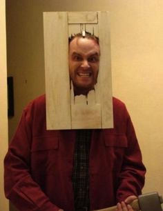 Halloween costume inspired by The Shining.