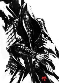 ArtStation - Samurai Sumi Spirit 2, Deryl Braun . Character Illustration Inspiration
