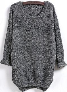 Jersey suelto manga larga-negro 12.18