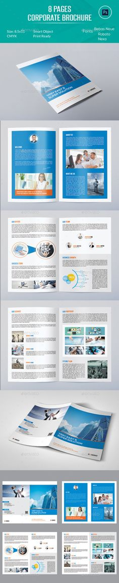 8 Pages Corporate Brochure Template #design Download: http://graphicriver.net/item/8-pages-corporate-brochure/12425242?ref=ksioks