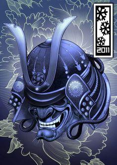 Samurai warrior helmet