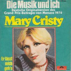 """""""Die musik und ich"""" - Mary Cristy synger sin hyldest til musikken. Denne gang er sproget tysk - men disco-violinerne er de samme som i original-versionen. ESC 1976"""