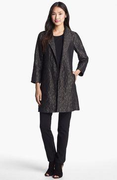 Eileen Fisher 'Ikat Embers' Jacquard Jacket M $558