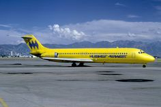 hughes airwest dc-9 flying banana 1973