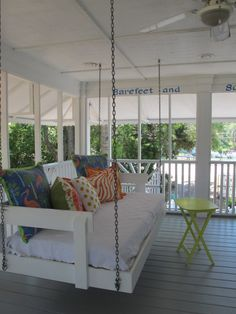 Jane Coslick Cottages : Summer Time, Hanging Beds and Colorful Pillows