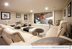 Elegant Media Room Design