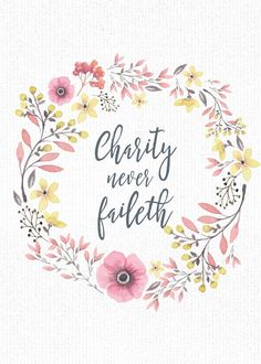 Mimi Lee Printables & More: Charity Never Faileth-5x7 freebies