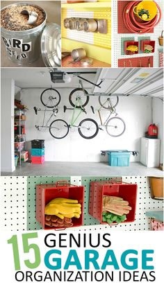 Garage organization, unique organization ideas, garage remodel, garage storage, popular pin, home organization, DIY home storage, garage projects, tutorials.