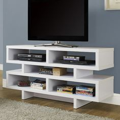 Monarch Specialties Inc. Monarch TV Stand Finish: White