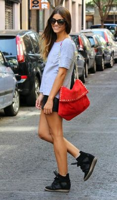 How To Style With Wedge Sneakers Outfit