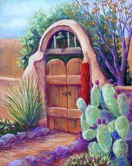 New Mexico Art - Josefinas Gate  by Candy Mayer