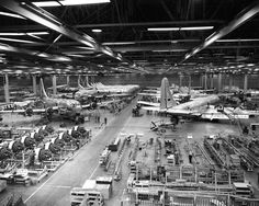 Stratocruisers being built. Photo by Boeing