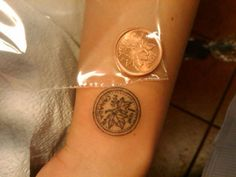 Canadian One Cent Tattoo