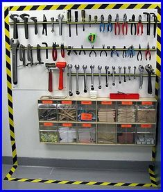 M - Total Productive Maintenance Workshop Storage, Workshop Organization, Garage Workshop, Garage Organization, Tool Storage, Storage Ideas, Organizing, Garage Tools, Diy Garage