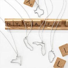 {Take  with you} Just in time for #MothersDay: our new @maya_brenner state necklace collection  #new #mymarkandgraham