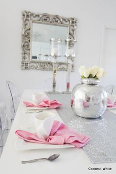 Coconut White: Riviera Maison Fairytale and pink table setting