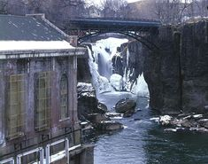 Frozen In Winter - Paterson Great Falls National Historical Park, Paterson, New Jersey.  (I remember it just like this too!)