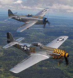 Republic P-47 Thunderbolt & P-51 Mustang