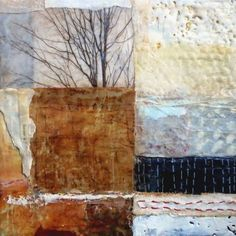 Bridgette Guerzon Mills - Forme - encaustic mixed media
