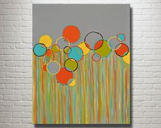 Original Acrylic Canvas Painting Colorful by SarahSchmidDesigns