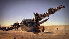 Plane Desert Wreck 01 by TiagoPorto.deviantart.com on @DeviantArt