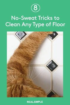 8 No-Sweat Tricks to Clean Any Type of Floor | Follow these guidelines for the right cleanser, the best tools, and the ideal technique for your specific type of flooring. With the foundation of every room sparkling, your entire home will look incredibly clean. #cleaningtips #cleanhouse #realsimple #stepbystepcleaning #cleaninghacks #cleaningguide