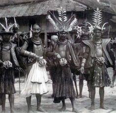 Warriors on Nias Island. ca. 1920   Postcard; photographer Leo Haas // Nias…