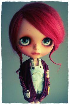 OOAK art doll takara blythe custom EBL Neelo by by KDollsHeaven