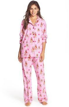 16814e37c6 PJ Salvage Print Flannel Pajamas Flannel Pajamas