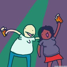 bobert & bertha partying hard by randomperson #gif #anim #animation #flipanim #flipbook #drawing #draw