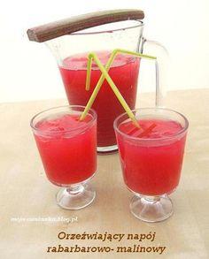 rewelacyjne orzeźwiający napój rabarbarowo- malinowy