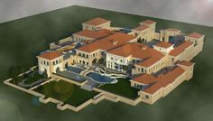 Large mansion made in minecraft.