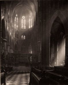 Westminster Abbey, Apse from Choir  Frederick H. Evans, 1911