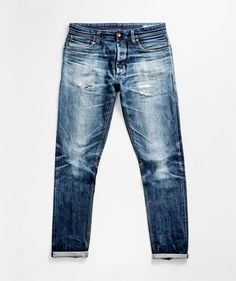 Worn in selvedge jeans