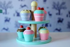 Win! A Great Little Trading Company Wooden Cupcake Set