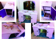 Vintage dresser I have painted with chalk paint then decoupaged with gorgeous roses