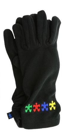Plush Autism Awareness Puzzle Fleece GLOVES - Helps Sharonsweb #AutismAwareness #Gloves