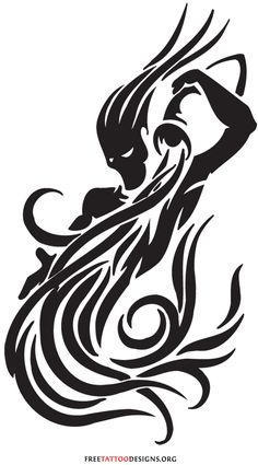 Unique Black Ink Aquarius Tattoo Design