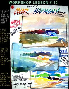 Use warm and cool colours to create mood in your watercolour painting (watercolor)