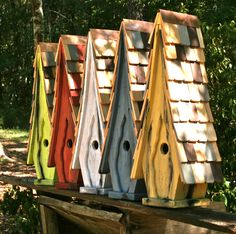 contemporary bird houses. They are so much fun to make and then take pictures of the birds who come!