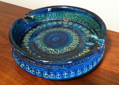 Aldo Londi Bitossi Rimini Blue Ashtray. $85