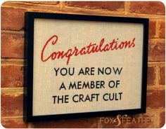 Congratulations Cross Stitch Pattern. $6.00, via Etsy.