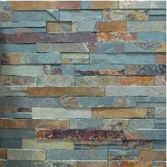stacked stone grays black and metal | Ledgestone - Fireplace Stone