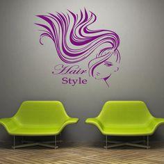 Wall decal decor decals art hair salon girl beauty haircut hairdresser stylist inscription word