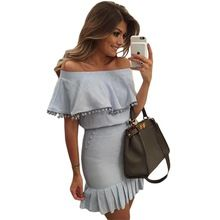 Mini pom pom trim overlay mini off shoulder dress 2016 summer style sexy night club clothes short casual dresses for women