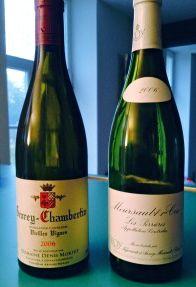 Gevrey Chambertin and Meursault Perrieres