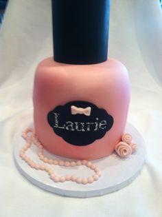 Pink nail polish cake