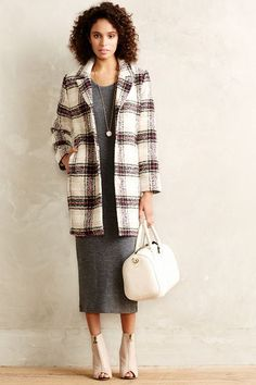 Nonie Check Coat #Anthropologie