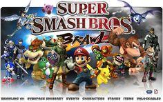Super smash bros brawl, videojuego para la consola nintendo wii, de hasta 4 jugadores. :D